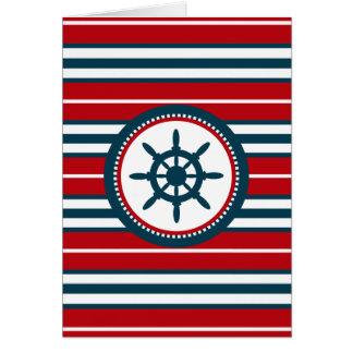 Nautical design card