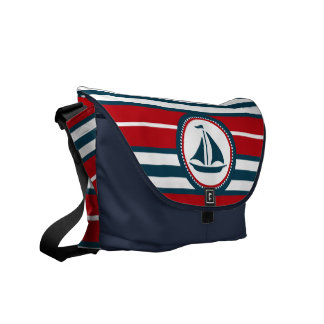 Nautical design courier bag
