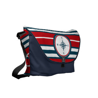 Nautical design courier bags