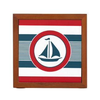 Nautical design desk organizer