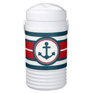 Nautical design drinks cooler