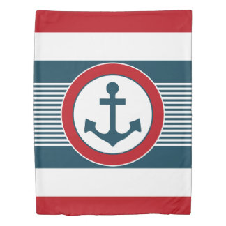 Nautical design duvet cover