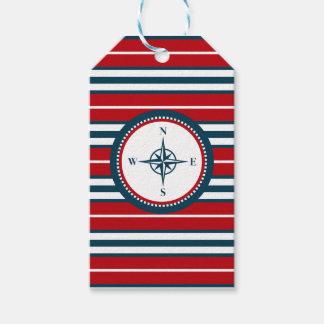 Nautical design gift tags