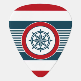 Nautical design guitar pick
