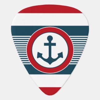 Nautical design guitar pick
