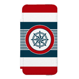 Nautical design incipio watson™ iPhone 5 wallet case