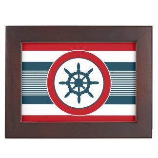 Nautical design keepsake box