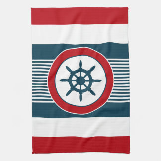 Nautical design kitchen towel