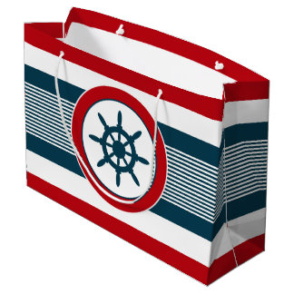 Nautical design large gift bag