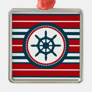 Nautical design metal ornament