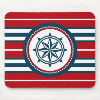 Nautical design mouse pad