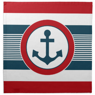 Nautical design napkin