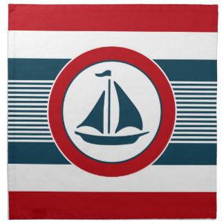 Nautical design napkin