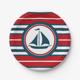 Nautical design paper plate