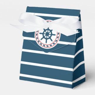 Nautical design party favor box