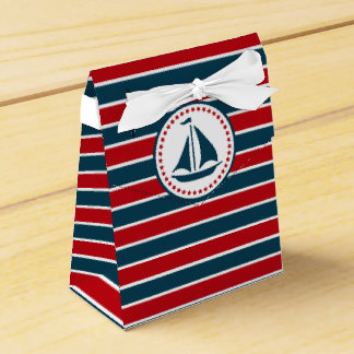 Nautical design party favor boxes