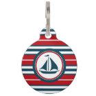 Nautical design pet ID tag