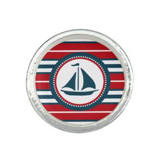 Nautical design photo ring