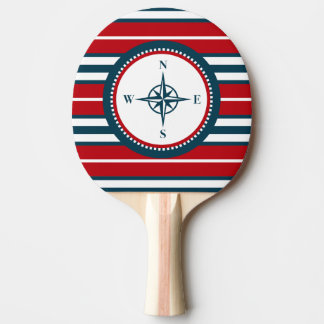 Nautical design ping pong paddle