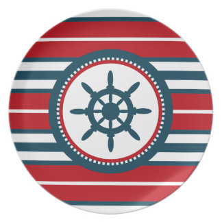 Nautical design plate