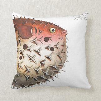 """Nautical Design Puffer Fish 20"""" Throw Pillow Decor"""