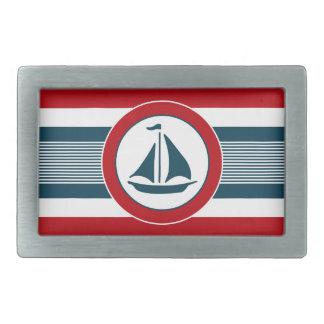 Nautical design rectangular belt buckles
