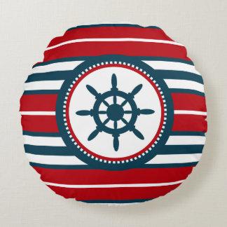 Nautical design round pillow