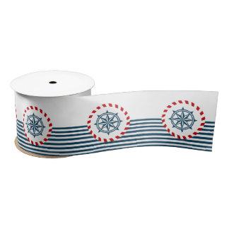 Nautical design satin ribbon