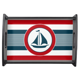 Nautical design serving tray