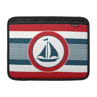Nautical design sleeve for MacBook air