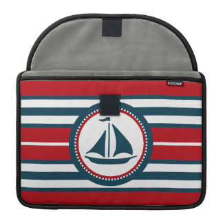 Nautical design sleeve for MacBook pro