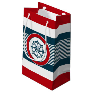 Nautical design small gift bag