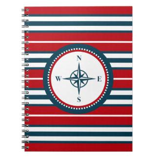 Nautical design spiral note book