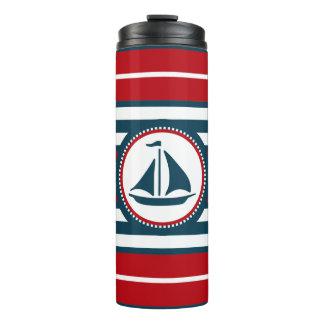 Nautical design thermal tumbler