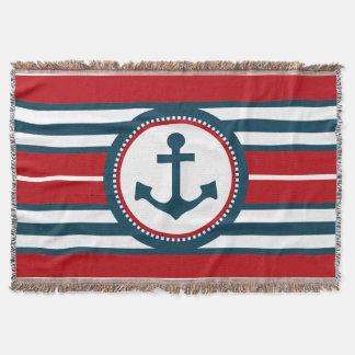 Nautical design throw blanket