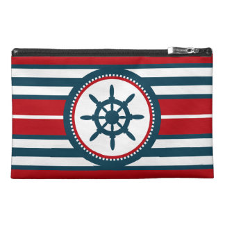Nautical design travel accessory bag