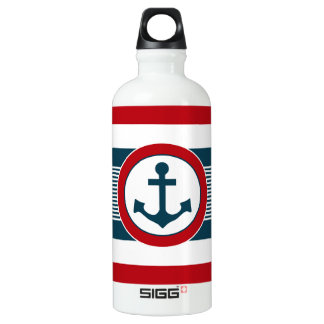 Nautical design water bottle