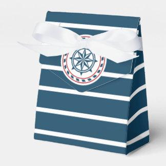 Nautical design wedding favor box