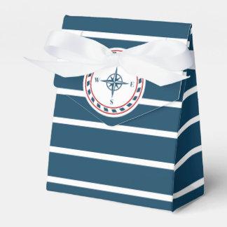 Nautical design wedding favor boxes