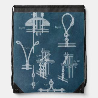 Nautical Detail Blueprint IV Backpack