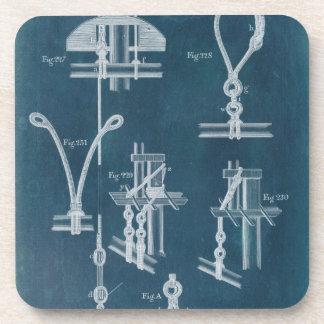 Nautical Detail Blueprint IV Coaster