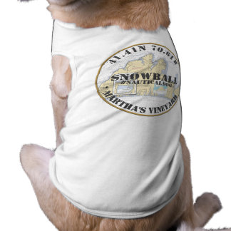Nautical Dog Martha's Vineyard Massachusetts Pet T-shirt