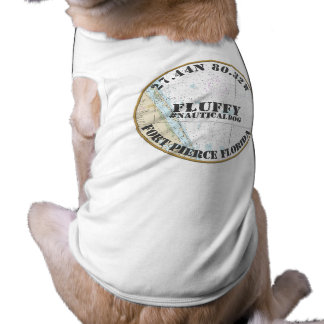 Nautical Dog Nautical Fort Pierce Florida Doggie T Shirt