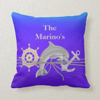 NAUTICAL Dolphin, Anchor, Ship  Custom Pillow Gift