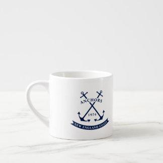 Nautical Espresso Mug with Anchors - Customizable