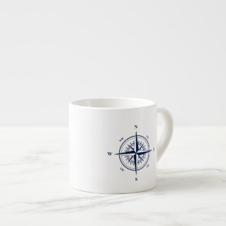 Nautical Espresso Mug with Blue Nautical Star