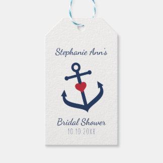 Nautical Favor Tags -  Navy Blue Anchor Tags