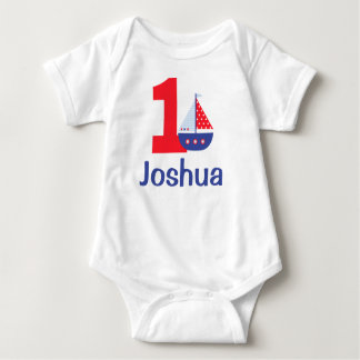 Nautical First Birthday Shirt, Birthday Body Suit Baby Bodysuit