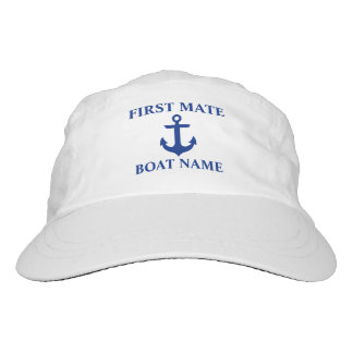 Nautical First Mate Name Anchor Headsweats Hat