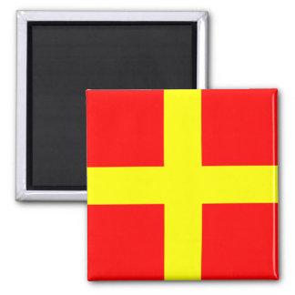 Nautical Flag Alphabet Sign Letter R (Romeo) Magnet